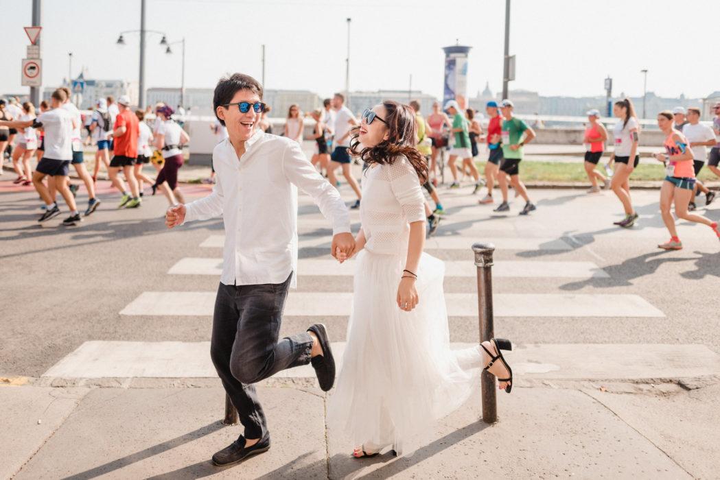 budapest marathon crashed by couple from hongkong