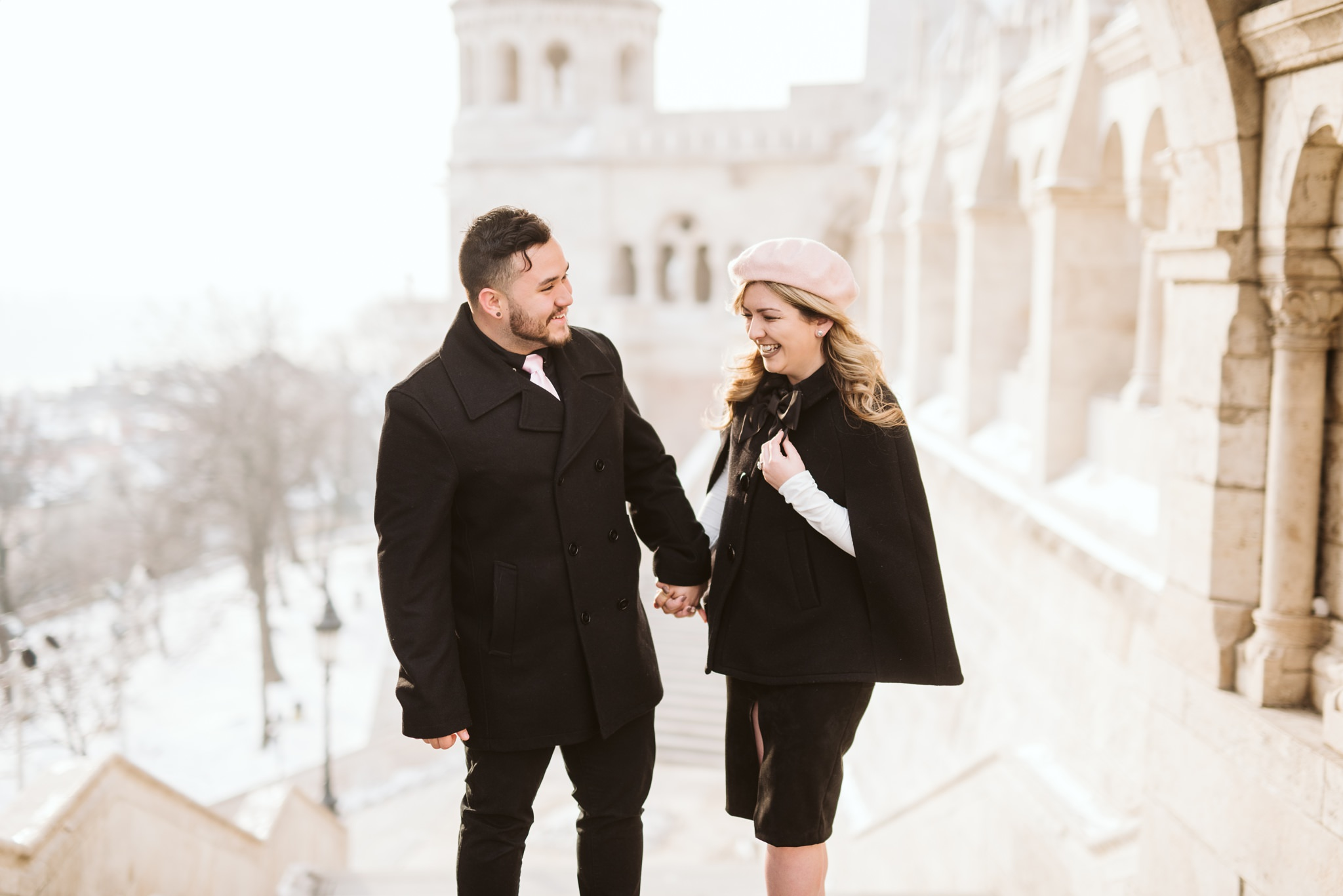 25 early morning engagement in budapest